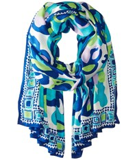 Lilly Pulitzer Lillian Scarf Sea Blue Its A Stretch Scarves
