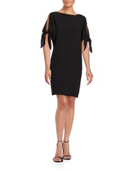 Vince Camuto Cutout Sleeve Solid Dress Black