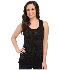 Rock And Roll Cowgirl Knit Tank Top 49 5115 Black Women's Sleeveless