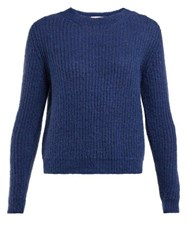 Masscob Eden Ribbed Mohair Blend Sweater Navy