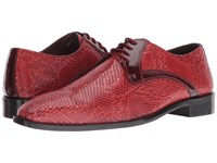 Stacy Adams Rinaldi Leather Sole Plain Toe Oxford Red Men's Plain Toe Shoes