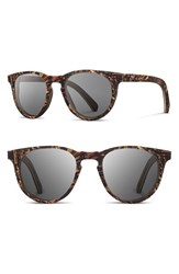 Shwood Women's 'Belmont Flower' 51Mm Polarized Wood Sunglasses