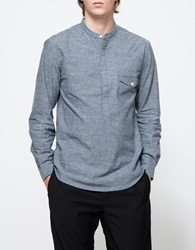 Shades Of Grey Banded Collar Popover Shirt Dk. Grey