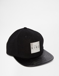 King Apparel Vector Snapback Cap Black