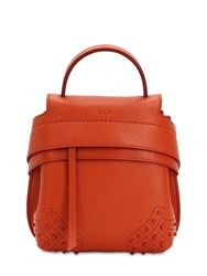 Tod's Mini Wave Gommino Leather Backpack Orange