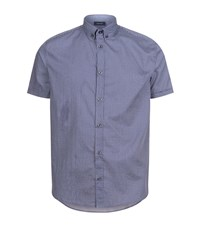 Armani Jeans Printed Short Sleeved Shirt Male Navy
