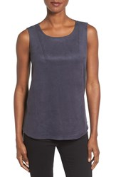 Nic Zoe Women's Faux Suede And Ponte Tank Japanese Violet