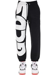 Gcds Macro Logo Cotton Sweatpants Black