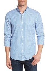 Bonobos Men's Slim Fit Summerweight Stripe Sport Shirt Blue Stripe