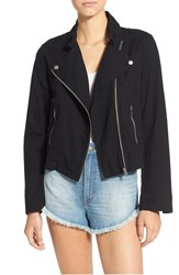 Women's Bp. Lightweight Cotton Moto Jacket