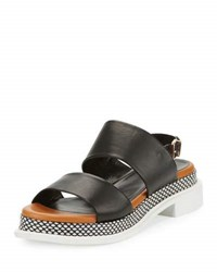 Robert Clergerie Camas Two Band Slingback Sandal Black
