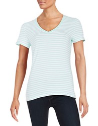 Lord And Taylor Petite Striped Stretch Cotton Tee Aries
