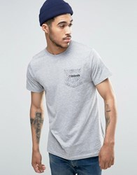 Lambretta Paisley Pocket T Shirt Grey