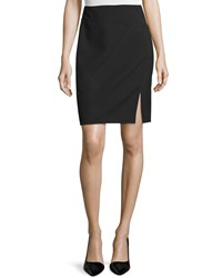 Halston Heritage Seamed Pencil Skirt With Front Slit Women's