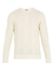 A.P.C. Jacques Yves Cable Knit Wool Sweater White