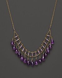 Bloomingdale's Amethyst Statement Necklace In 14K Yellow Gold 18 Purple Gold