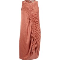 River Island Womens Light Pink Ruched Front Sleeveless Dress