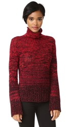 Zadig And Voltaire Ombre Turtleneck Cashmere Sweater Rouge