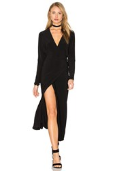 Norma Kamali Dolman Wrap Dress Black