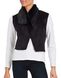 Bb Dakota Faux Fur Lined Vest Black