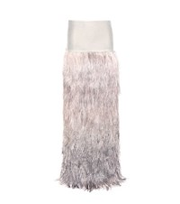 Tom Ford Velvet And Ostrich Feather Skirt Beige