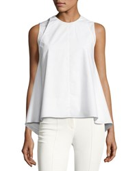 Adam By Adam Lippes Sleeveless Double Layer Top White