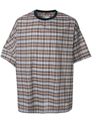Wooyoungmi Oversized Check T Shirt Multicolour