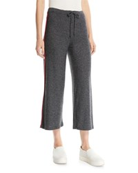 Sundry Cropped Drawstring Lounge Pants Charcoal