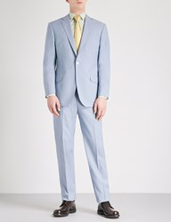 Richard James Tailored Fit Wool And Mohair Blend Suit Sky