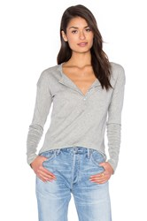 Rag And Bone Slacker Henley Tee Gray