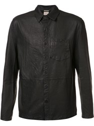 Baldwin 'Alan' Leather Shirt Black