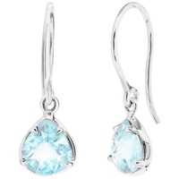 Dinny Hall Sheba Sterling Silver Blue Topaz Drop Earrings Silver