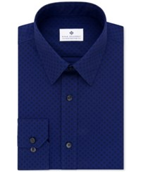 Ryan Seacrest Distinction Men's Evening Collection Slim Fit Dress Shirt Only At Macy's Night Blue