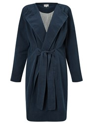People Tree Milena Wrap Coat Navy