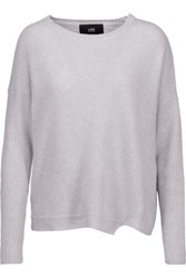 Line Spencer Ribbed Cashmere Sweater Light Gray