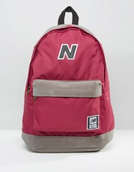 New Balance 420 Backpack In Red Blue