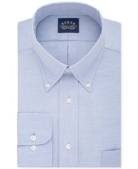 Eagle Men's Classic Fit Stretch Collar Non Iron Solid Dress Shirt Navy