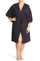 Plus Size Women's Barefoot Dreams 'Luxe Milk' Short Robe