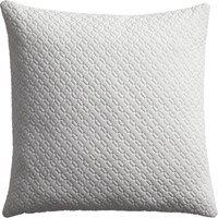 Cb2 Matelasse White 20 Pillow With Feather Insert