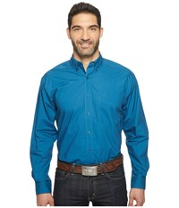 Ariat Alden Shirt Everland Teal Men's Long Sleeve Button Up Blue