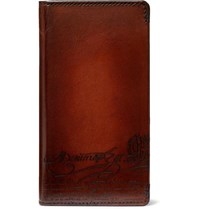 Berluti Native Union Scritto Leather Iphone Xs Case Brown