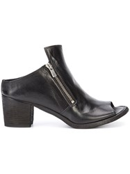 Officine Creative Sabot Open Ankle Boots Women Buffalo Leather Calf Leather 36.5 Black