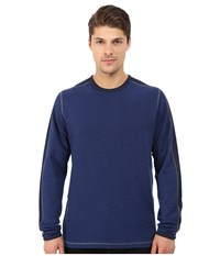 Agave Denim Long Sleeve Crew Military Sleeve Medieval Blue Men's Long Sleeve Pullover Navy