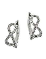 Lord And Taylor Sterling Silver And Cubic Zirconia Infinity Pendant Stud Earrings