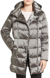 Kenneth Cole Women's New York Iridescent Down And Feather Fill Coat