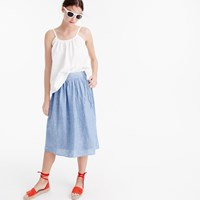 J.Crew Easy Linen Midi Skirt With Ties