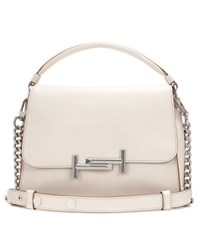 Tod's Double T Small Leather Shoulder Bag White