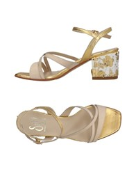 Giancarlo Paoli Sgn Sandals Ivory
