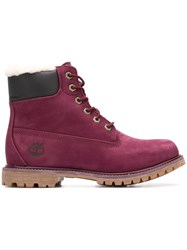 Timberland Premium 6 Inch Ankle Boots Purple
