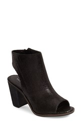 Women's Very Volatile 'Sutton' Open Toe Bootie Black Fabric